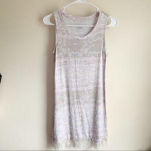 LOGO Lori Goldstein Layers Tie Dye Lace Tunic Tank